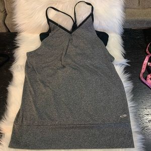 Champion M/M Gray/Black Sports Tank w/Built-in Bra